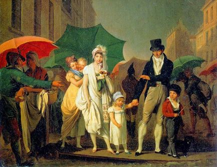 Parisans in the Rain With Umbrellas, Boilly.jpg.