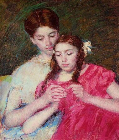 Cassatt's The Crochet Lesson