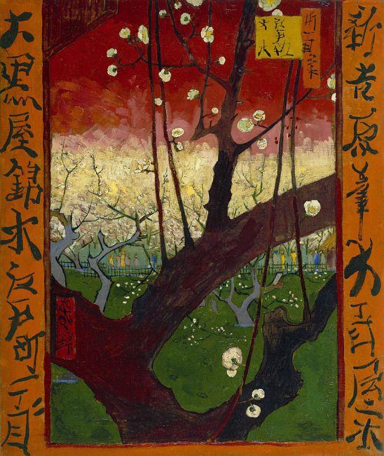 800px-Vincent_van_Gogh_-_Bloeiende_pruimenboomgaard-_naar_Hiroshige_-_Google_Art_Project