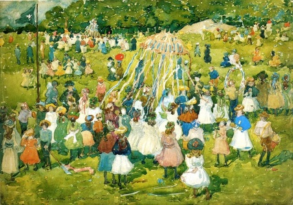 2 1901 Maurice Brazil Prendergast (American artist, 1858-1924) May Day in Central Park